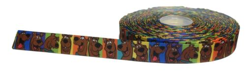 """USA Seller Scooby Doo Grid 1/"""" Repeat Ribbon Sold By The Yard"""