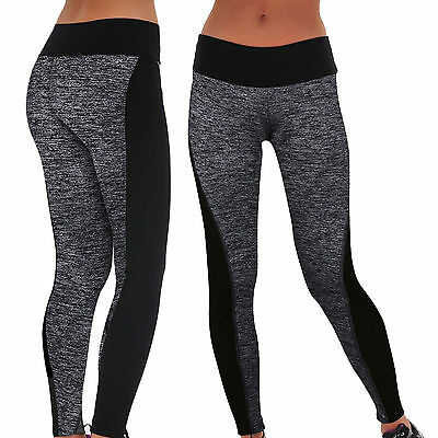 Womens Sport Yoga Running Pants Fitness Gym Clothes High Waist Trousers