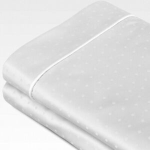 Sleep Like a king Luxury Signature king Pillowcase Set 100% Cotton 700 TC WHITE