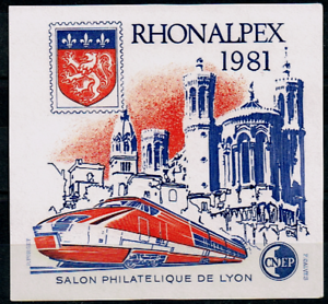 Timbre France Bloc Cnep N°2 Neuf** Rhonalpex Tgv (salon Philatélique De Lyon) Paquet éLéGant Et Robuste