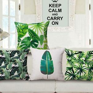 Green-Leaf-Cotton-Linen-Cushion-Cover-Throw-Pillow-Case-Sofa-Bed-Beauty