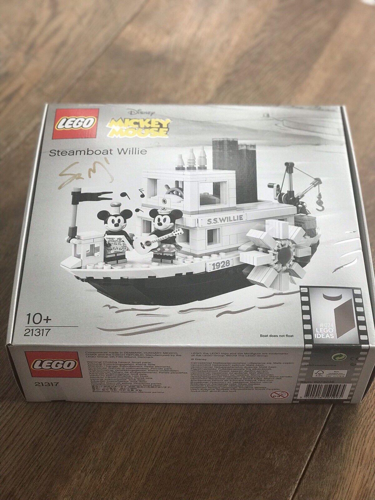 LEGO Idee Steamboat Willie 21317 (firmato da máté Szabó errore BOX 24)