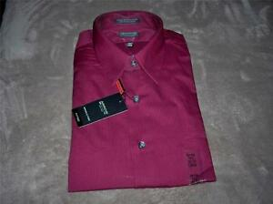 Arrow FITTED Long Sleeve,Red Clay or Garnet Men's Dress Shirt~Dif ...