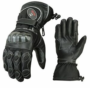 ISLERO-thermal-Leather-Motor-bike-Motorcycle-Gloves-Carbon-Fiber-Knuckle-Racing