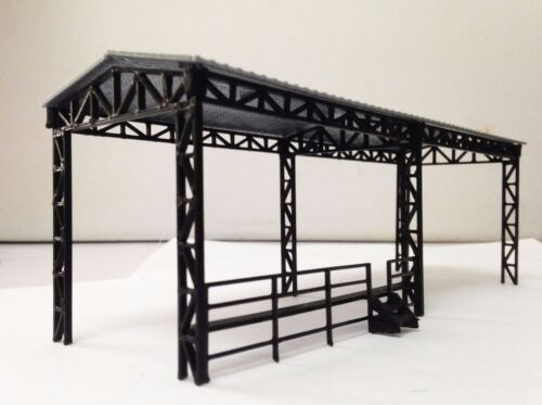 Outland Models Train Railway Layout Factory Open Shed for Locomotive HO OO Scale