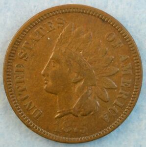 1875-Indian-Head-Cent-Penny-Very-Nice-Old-Coin-LIBERTY-Fast-S-amp-H-431