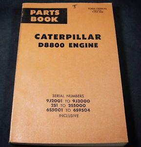 Caterpillar CAT D8800 Diesel Engine & Electric Set Parts