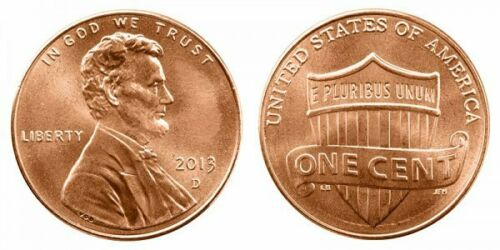 3 coin set 2013 P D S From Mint Rolls /& Cameo LINCOLN CENT Proof