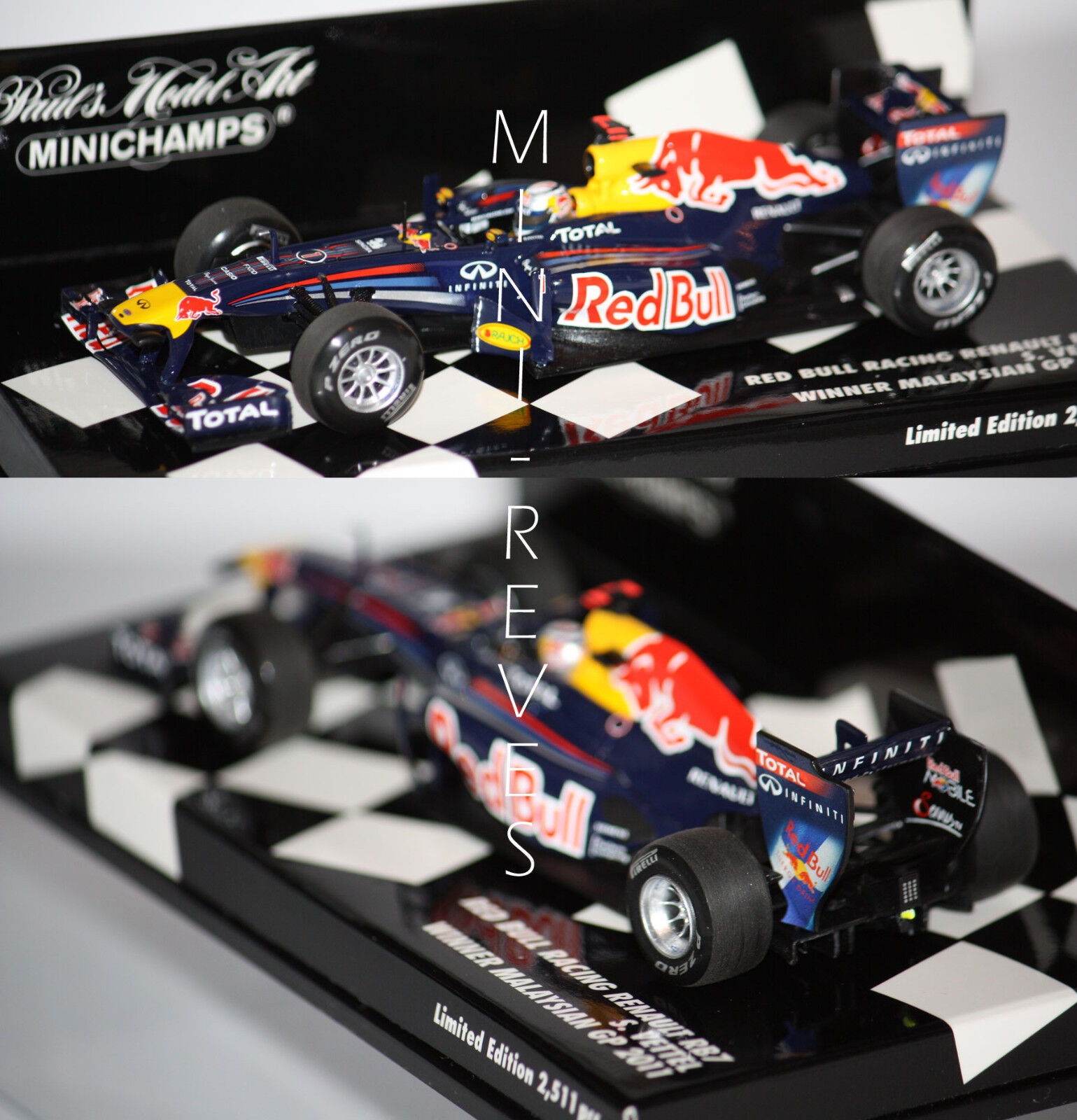 Minichamps F1 rouge Bull Racing RB7 S. Vettel WC 2011 1 43 410110101