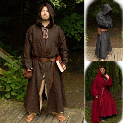 Stage Ideal For Re-enactment Combat Costume and LARP Monks Robe