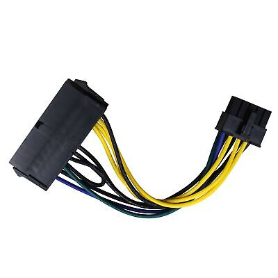 ATX PSU Power Supply Adapter Cable 24 Female To 10 Pin For Lenovo Motherboard