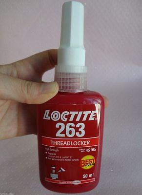 Genuine LOCTITE 263 50ml RED THREADLOCKER HIGH STRENGTH GLUE