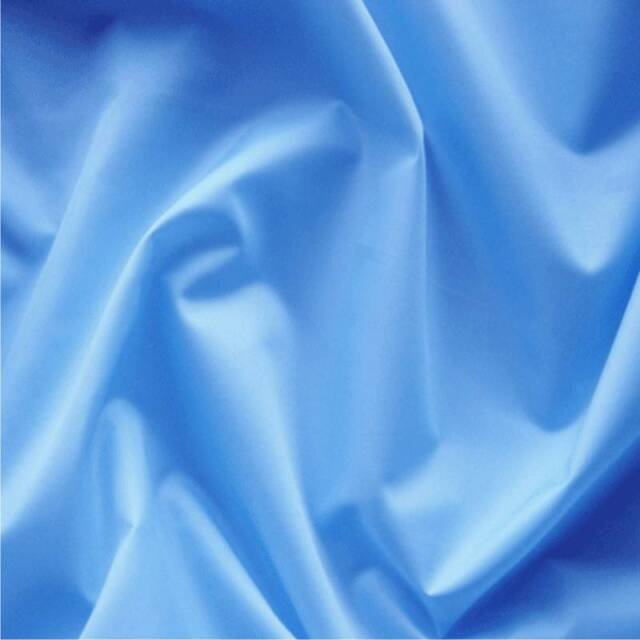 SKY BLUE 4oz PU coated nylon waterproof fabric sold by the metre 150cm wide