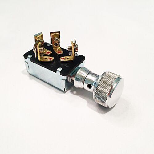 Hot Rod KEYLESS Ignition Dashboard Switch Bezel Custom Knurled Knob