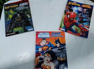 Detalles Acerca De Lote De 3 Libros Para Colorear Jumbo Hombre Araña Batman Liga De La Justicia Mostrar Título Original