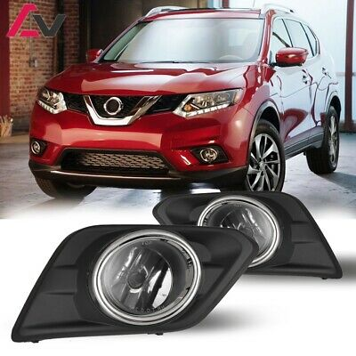 For 2014-2016 Rogue Fog Lights w//Wiring Kit /& Wiring Instructions Clear