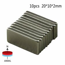 10Pcs Neodymium Block Magnet 20x10x2mm New Super Strong Rαre Earth Magnets N52