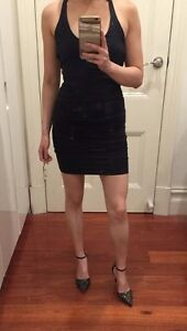 45413a54f6 Image is loading Kookai-Black-Bodycon-Mini-Dress-Single-Strap-Backless-