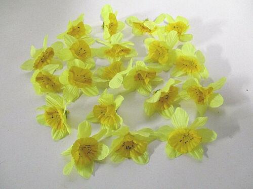 Deko 20 Osterglocken Blüten künstlich Tischdeko Seidenblumen Floristik wie echt