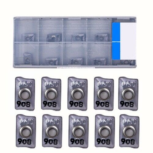 10Pcs HM90 APKT 1003PDR IC908 CNC carbide INSERT for Lathe Turning Tool BE