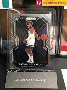2020-21 PANINI PRIZM BASKETBALL NBA ANTHONY EDWARDS BASE ROOKIE CARD RC #258 NM