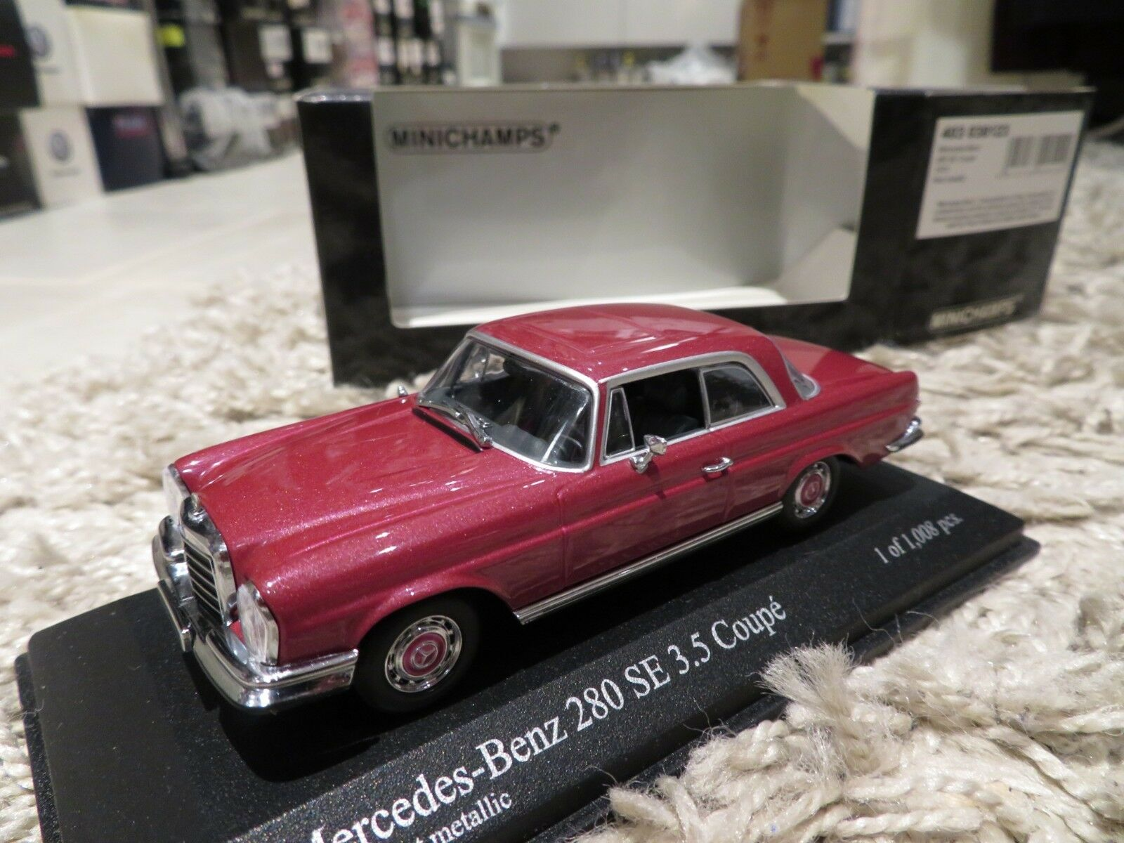 1   43 minichamps mercedes 280 se coupe (1970) nein