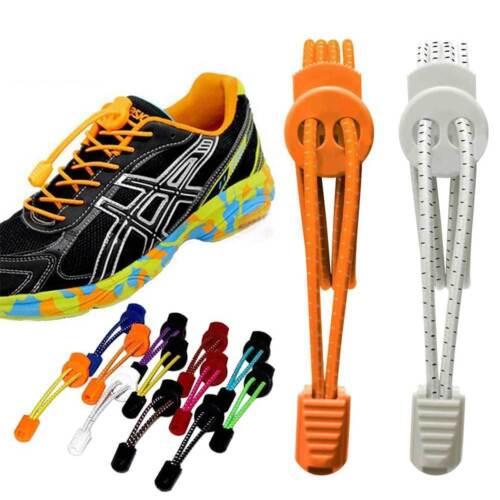 Elastic Laces Lock Shoelaces Running Triathlon Sports Shoe Trainer No Tie sm