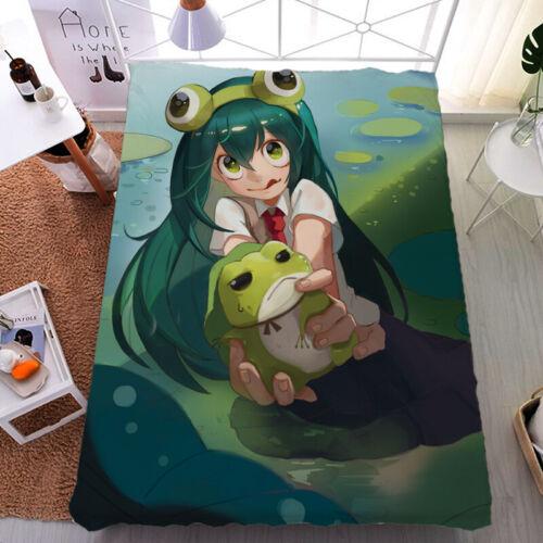 Anime My Boku no Hero Academia Asui Tsuyu Flano//Milk Silk Bedsheet Holiday Gift