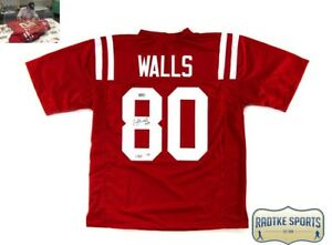 new arrival 4f920 7f3c5 Details about Wesley Walls Autographed/Signed Ole Miss Red Custom Jersey -  CHOF 2014