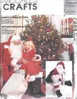 7384 5566 Uncut Mccalls Sewing Pattern Christmas Santa Costume Doll Bag Adult