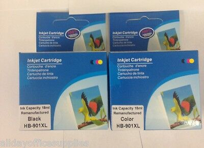 Remanufactured HP 901XL Black & 901XL Colour Ink Cartridges for HP Officejet4500