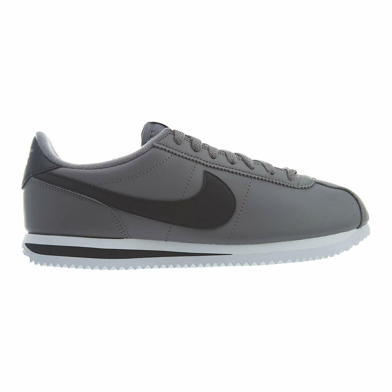 Nike Cortez Basic Leather Leather Leather Gunsmoke Black WHite 819719-004 Mens Sneakers ea5457