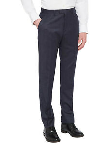 Ted-Baker-Caspian-Herren-Sterling-Wolle-Flanell-Tailored-Anzug-Hose-Navy-135