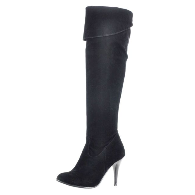 c24c9b973aac Party Ladies Shoes High HEELS Suede Faux Leather BOOTS Size 8 9 10 ...