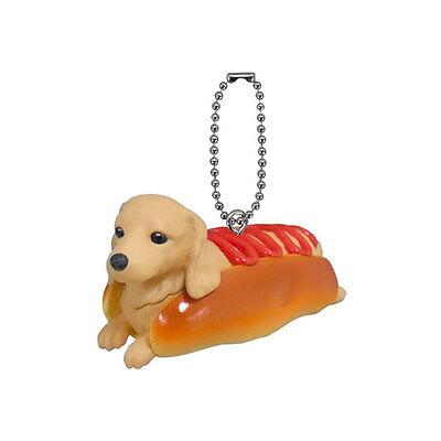 Bandai Gashapon Anicolla Series Inupan Dog P15 Hot Dog mini Dachshund Figure