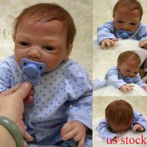 20-034-Newborn-Reborn-Lifelike-Baby-Silicone-Vinyl-Baby-Boy-Doll-Blue-Eyes-New-Gift