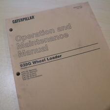 Cat Caterpillar 938g Wheel Loader Operation Operator Manual Maintenance Owner