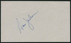 Details about ANNE JACKSON SIGNED 3X5 INDEX CARD THE SHINING DIRTY DINGUS  MAGEE ZIG ZAG