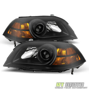Black Acura MDX Replacement Headlights Headlamps - 2004 acura mdx headlights