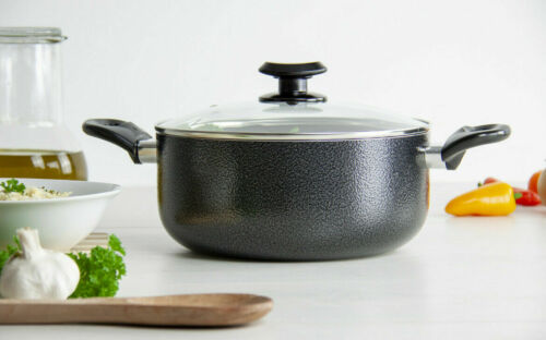 Non-Stick Coated 24cm Stockpot Casserole Cooking Fry Pot Pan induction Cookware