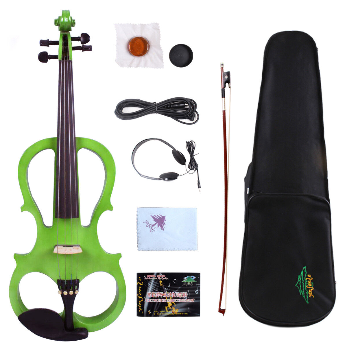 Yinfente Electric Silent purple 16inch Solid wood Free Case Bow Rosin Cable  EL5