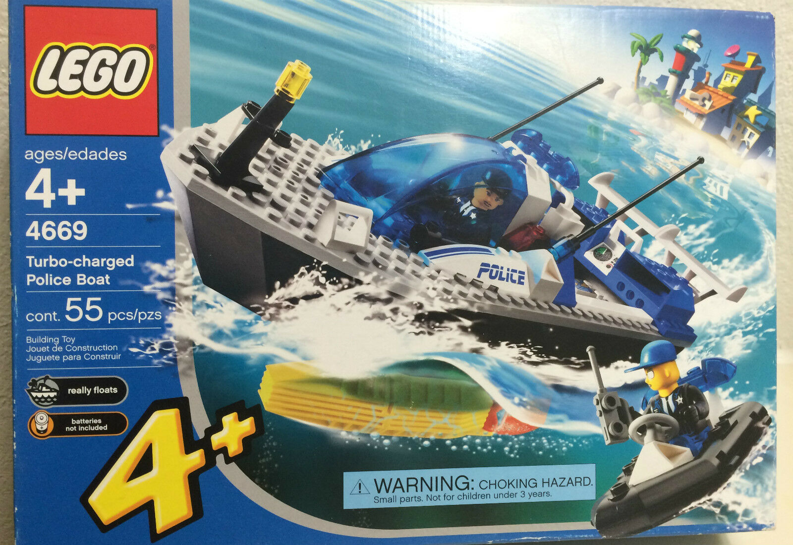 Lego Motorboat from set 4669-New in Damaged Box-Free Shipping
