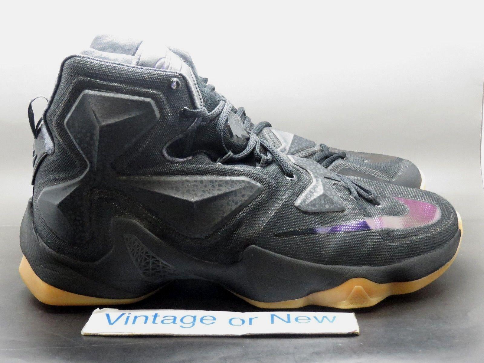 Cheap and beautiful fashion Nike LeBron XIII 13 Black Lion Price reduction
