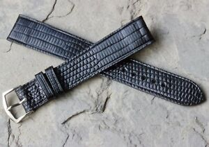 Unstitched-rare-Long-Teju-Lizard-vintage-watch-strap-17-5mm-11-16-size-1960s-NOS