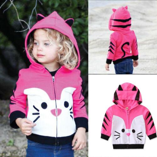 Toddler Kid Baby Girl Boy Hooded Cartoon Sweatshirt Animal Coat Outfit Outwear k