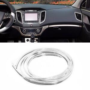 Moulding-Interior-Car-Decor-Style-U-Chrome-Silver-Trim-DIY-Strip-4M-Door
