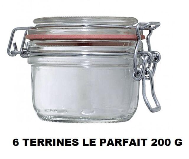 Le Parfait Bocaux Super 1//4L D.70 mm 6 pi/èces