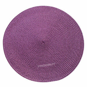 30cm Round Woven Purple Fabric Placemats Dining Room Table ...