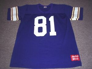 buy popular 87d33 1101d Details about VINTAGE 80'S RAWLINGS NFL MINNESOTA VIKINGS ANTHONY CARTER  JERSEY SIZE L
