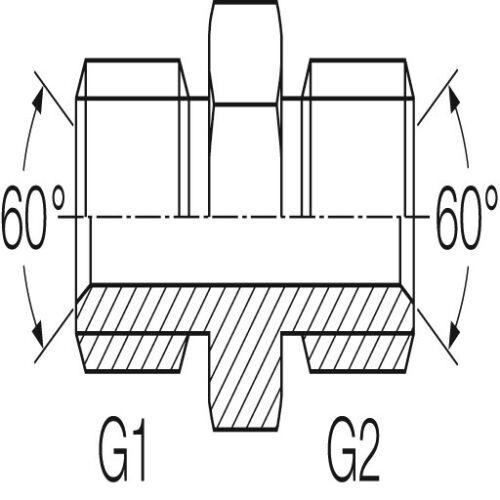"""Precisamente hidráulicos unión roscada manguito pulgadas PNB de g 1//8/"""" hasta g 2 1//2/"""""""